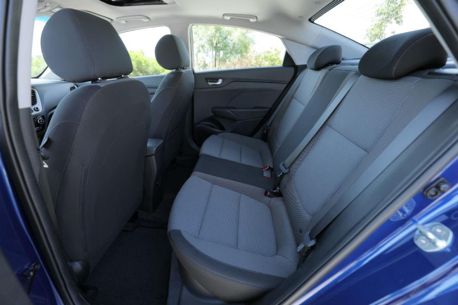 2020 Hyundai Accent Interior Cabin Rear Seating