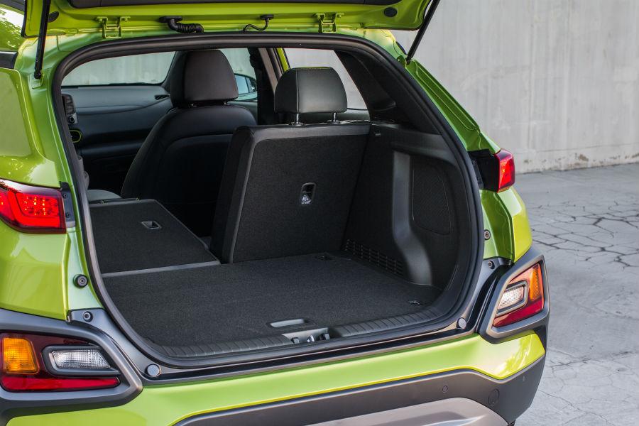 2020 Hyundai Kona Interior Cabin Cargo Area Split-Folded Seats