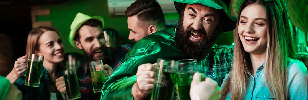 People Dressed in Green Drinking Green Beer for St Patricks Days