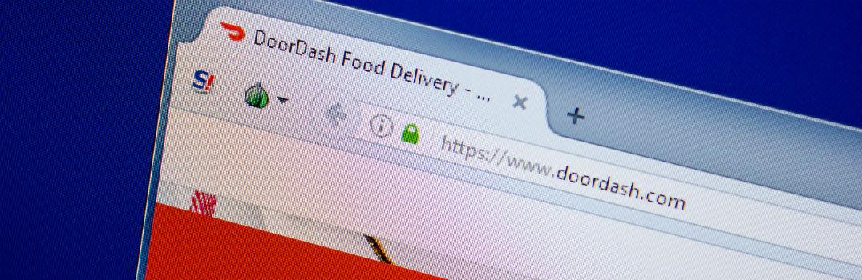 DoorDash Browser Window