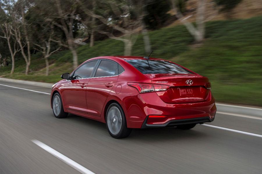 2020 Hyundai Accent Exterior Driver Side Rear Profile