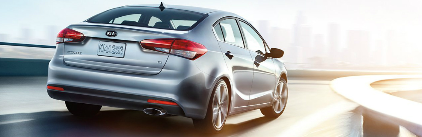 2018 Kia Forte rear exterior in grey