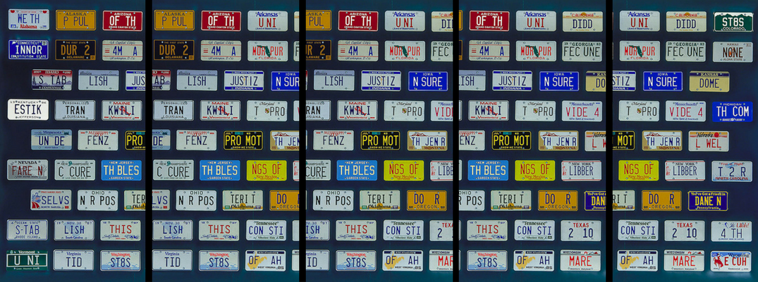Collage of Exhibit - Nissan celebrated the 4th of July 2017 with license plates