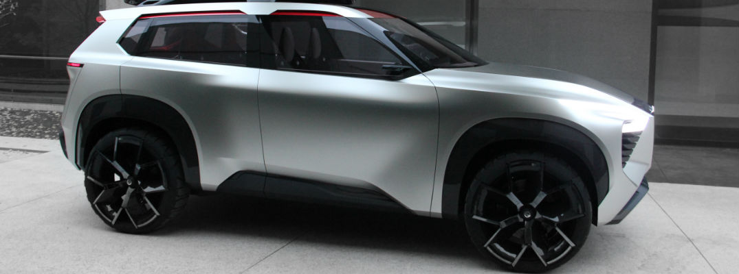 Nissan Xmotion Concept SUV silver exterior side view
