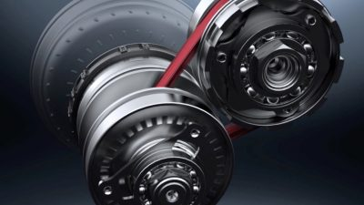 Closeup of the 2018 Nissan Murano Xtronic Continuously Variable Transmission