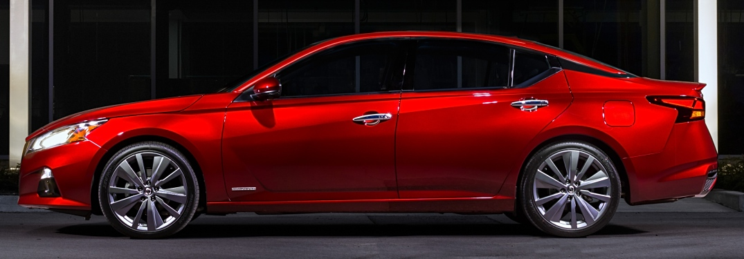 2019 Nissan Altima Edition ONE red side view