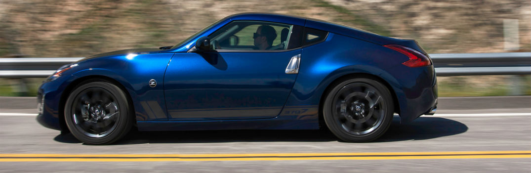 blue 2019 370Z coupe on the road