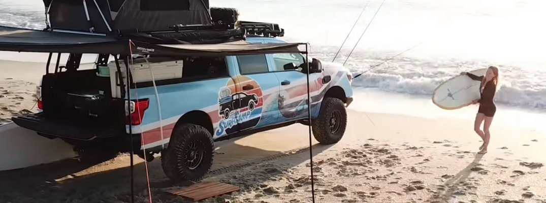 Screenshot from Nissan TITAN XD Surfcamp commercial