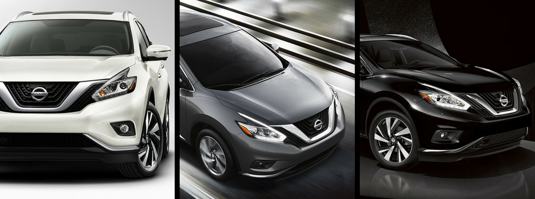 2018 Nissan Murano in White, Gray, and Black Paint Colors