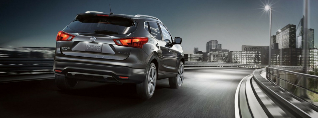 2018 Nissan Rogue Sport Rear View of Gray Exterior