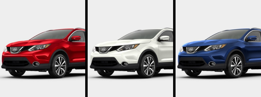 2018 Nissan Rogue Sport in Red, White, and Blue paint colors