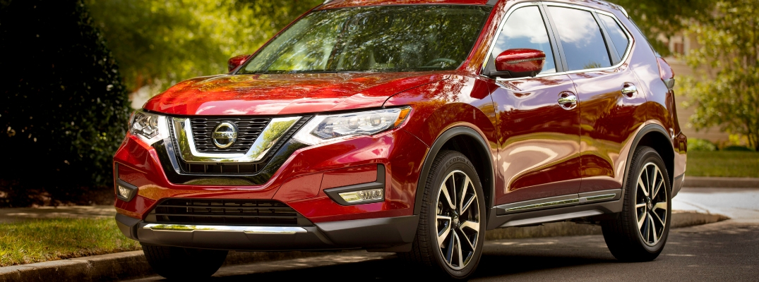 2019 Nissan Rogue Front View of Red Exterior