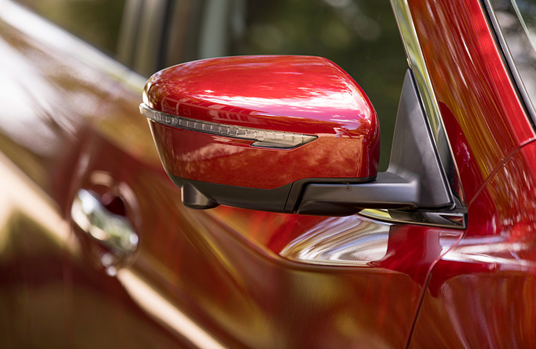 2019 Nissan Rogue Side Mirror in Red Exterior