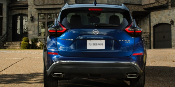 2019 Nissan Murano Rear View of Blue Exterior
