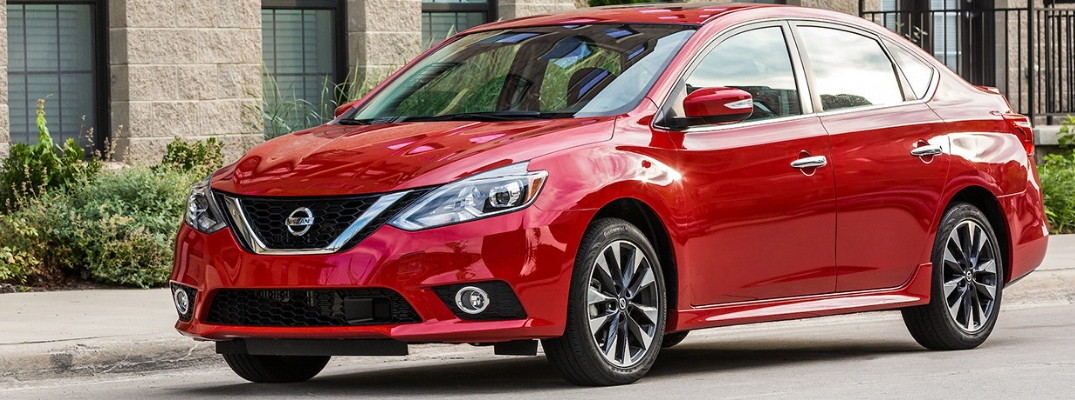 2019 Nissan Sentra Side View of Red Exterior