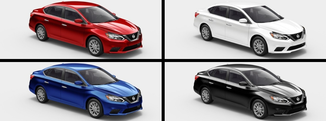 2019 Nissan Sentra in Red, White, Blue, and Black Paint Colors
