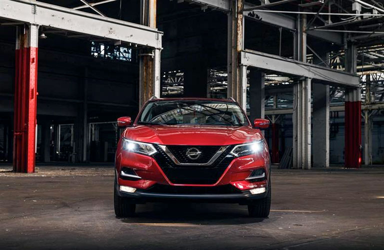 Head-on view of the 2020 Nissan Rogue Sport, showcasing the all-new front.
