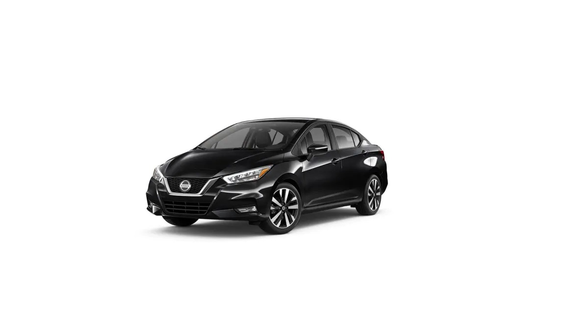 Super Black 2019 Nissan Versa.
