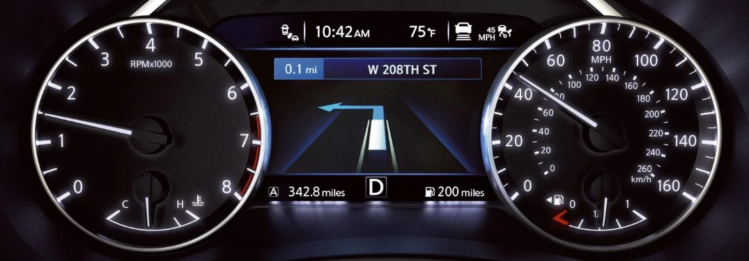 Close up of the Advanced Driver-Assist Display in the 2019 Nissan Murano
