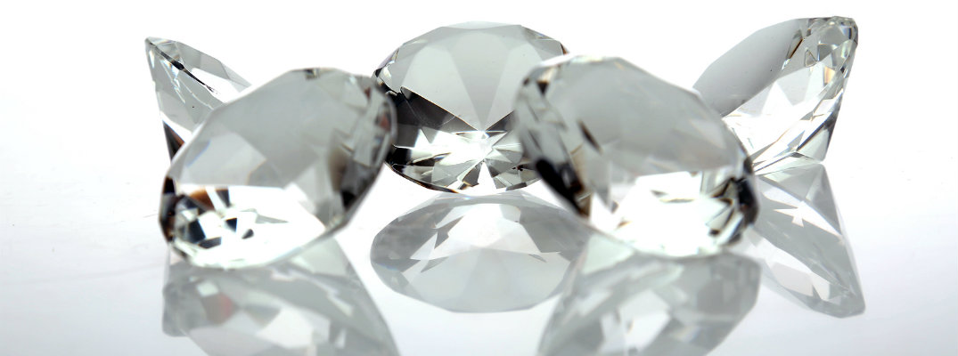 Cut and polished diamonds