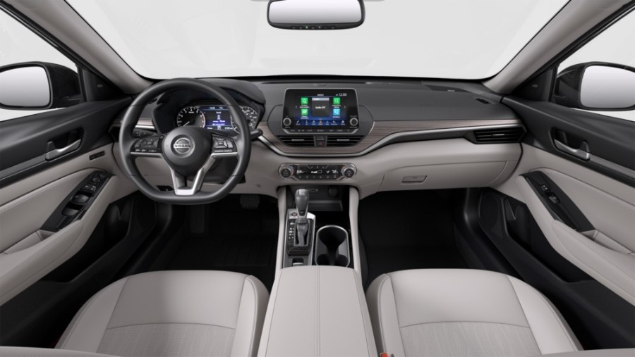 Gray Leather interior coloring inside the 2020 Nissan Altima