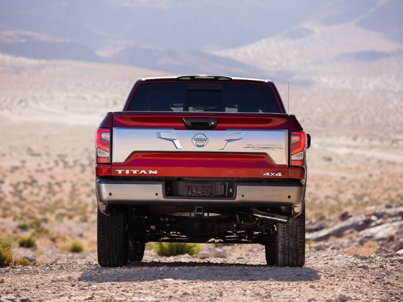 tailgate design on the nissan titan