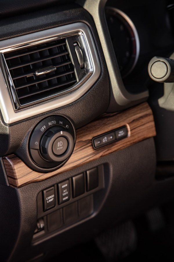 wood trim in the 2020 nissan titan