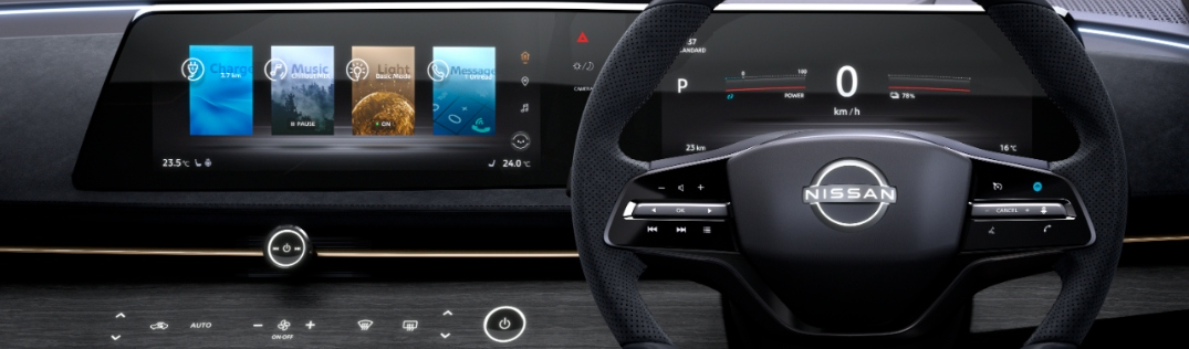touch screen displays in the nissan ariya