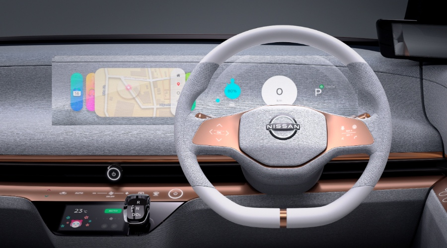 nissan imk infotainment screen hologram