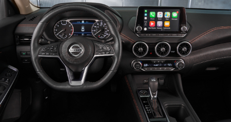 2020 nissan sentra steering wheel and touch screen