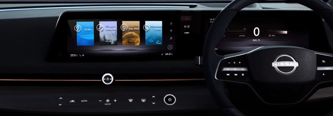touch screen and buttons in the nissan ariya