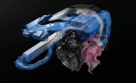 visualization of nissan vc-turbo engine performance and air flow
