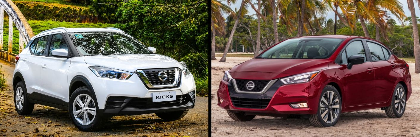 What's the difference between the 2020 Nissan Versa and Kicks?