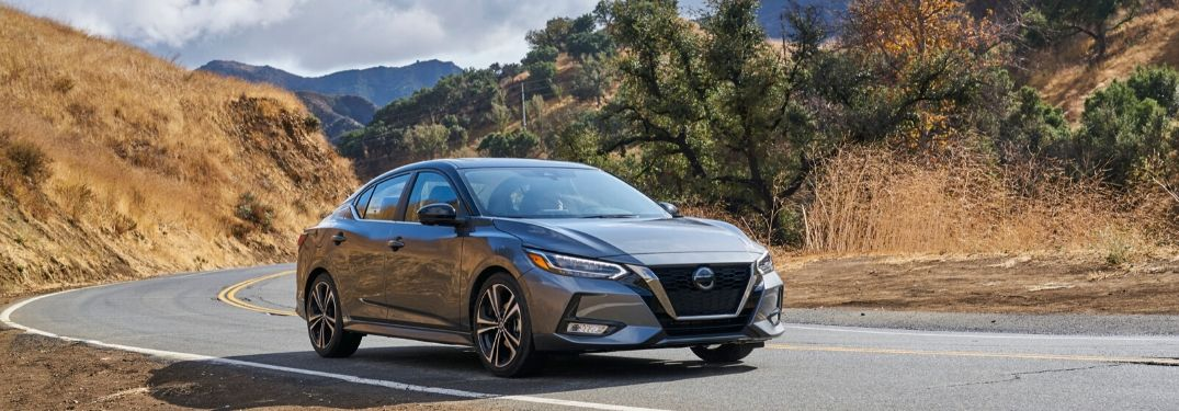 2020 Nissan Sentra on the road