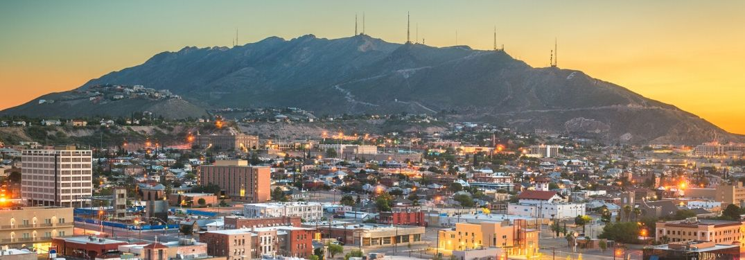 City of El Paso, TX skyline
