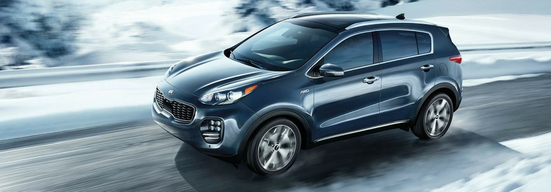 2018 kia sportage driving in winter