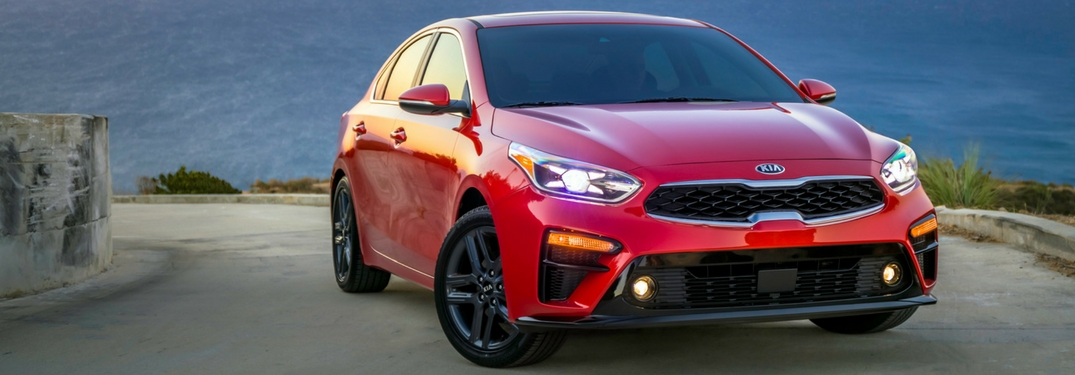 2019 kia forte front view in hichroma red