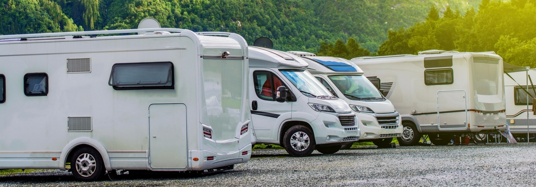 multiple rvs and campers parked