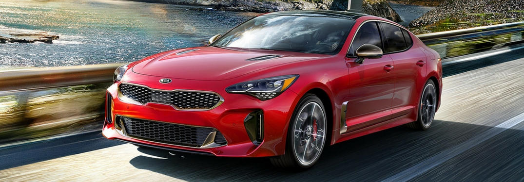 2018 kia stinger driving by water
