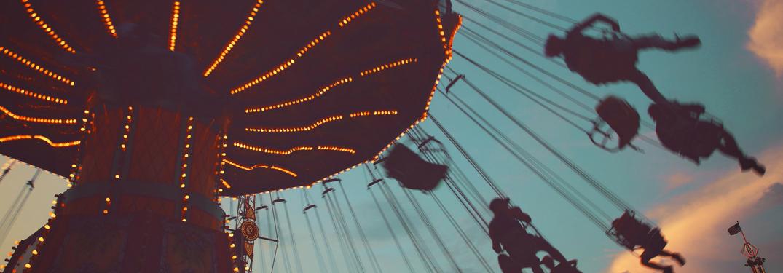 ride at the fair amusement park