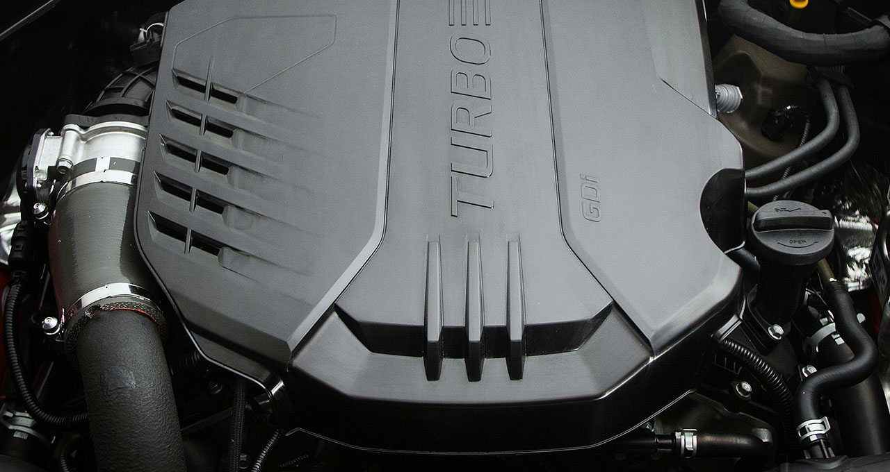 2018 Kia Stinger Engine closeup