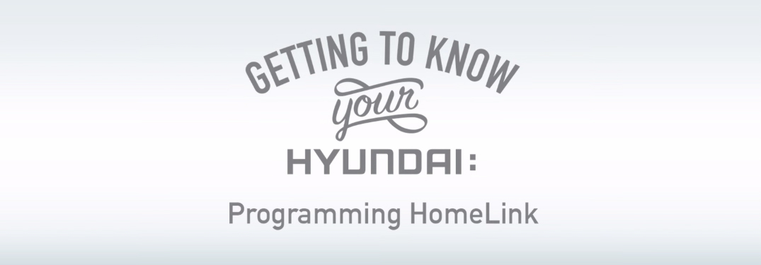 How To Program Homelink Garage Door Opener In Your Hyundai