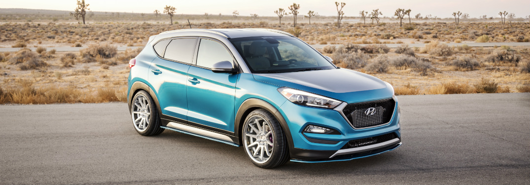 hyundai tucson concept exterior design features in blue paint color