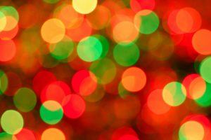 blurry Christmas lights