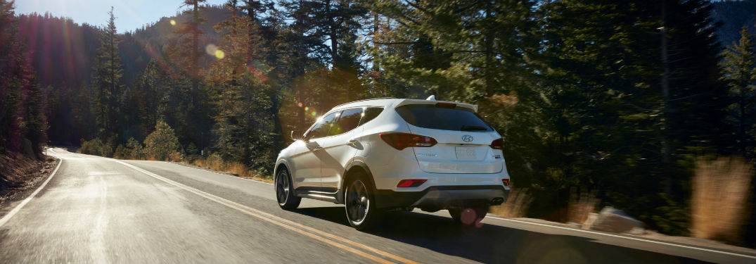 2018 hyundai santa fe sport standard features by trim level. Black Bedroom Furniture Sets. Home Design Ideas