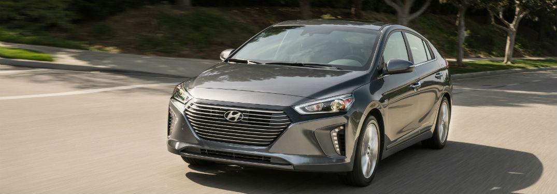 front view of a gray 2018 Hyundai Ioniq
