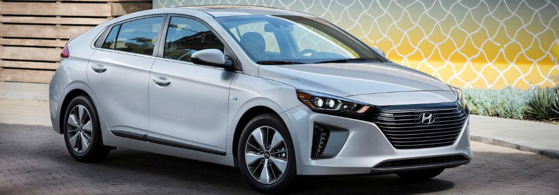 front view of a gray 2018 Hyundai Ioniq Plug-In Hybrid