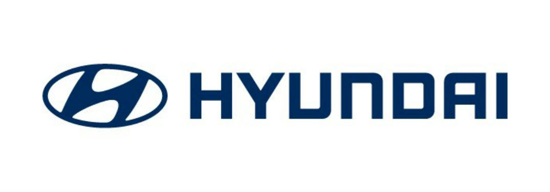 horizontal Hyundai logo in blue