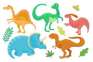 various-cartoon-dinosaurs