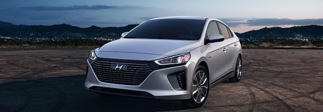 2018 Hyundai Ioniq parked showing front and side profile